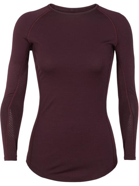 Icebreaker 200 Zone LS Crewe Shirt Women velvet-prism